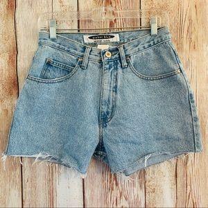 High Waisted Vintage Anchor Blue Shorts